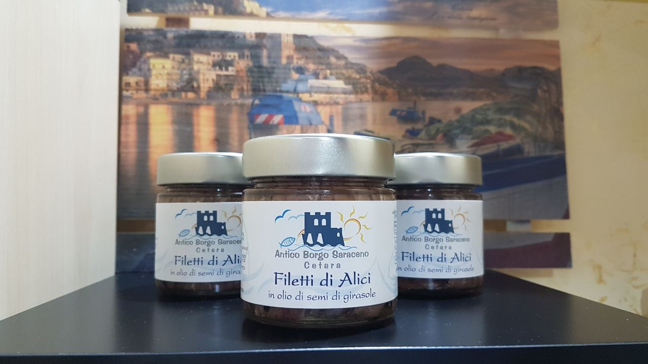 filetti di alici salate 200gr