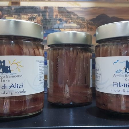 filetti di alici salate in olio 300gr