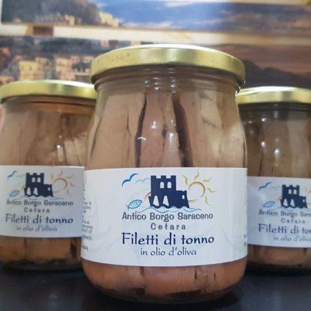 Filetti di tonno in olio di oliva 520 gr.