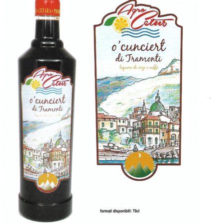 O'Cunciert di Tramonti - Liquore di Orzo e Caffè 70 cl.